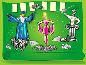 das Rotznasentheater Papier Papa und Tralala, ein märchenhaftes Kindermusical ab 5 Jahren zum Thema Recyclingpapier